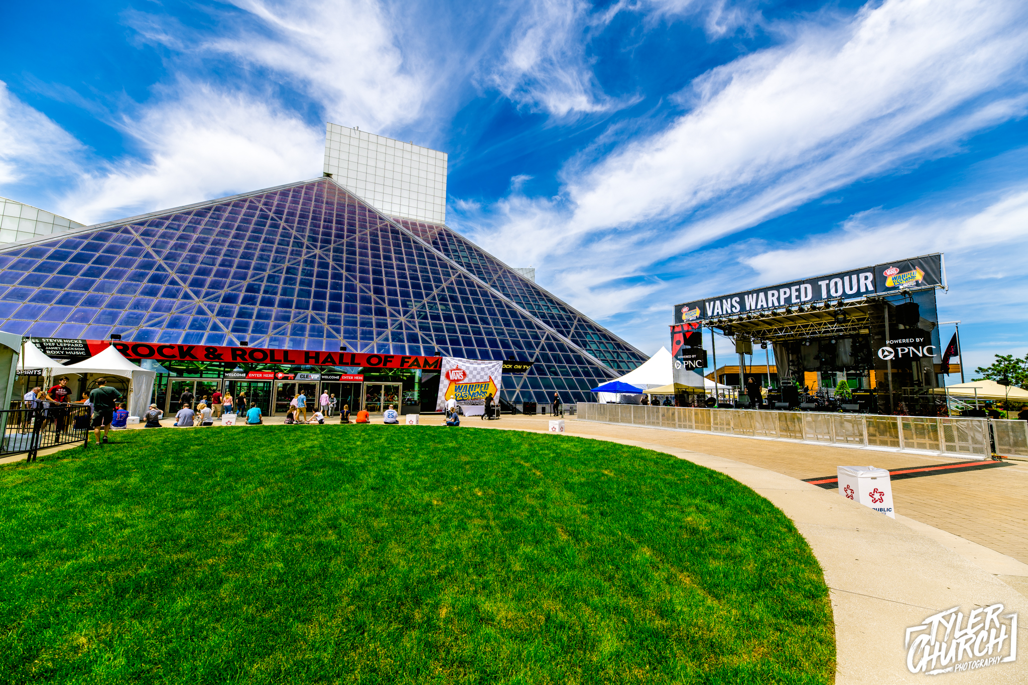 The Rock & Roll Hall of Fame site of the Vans Warped Tour 25th Anniversary show